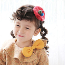 Korea Winter Hair Accessories  Watermelon Red Small Hat Flower Crown  Headband Hair Band Hair Bow Princess 4