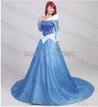 Custom made Beautiful Adult sleeping beauty princess aurora blue cosplay costume party dress