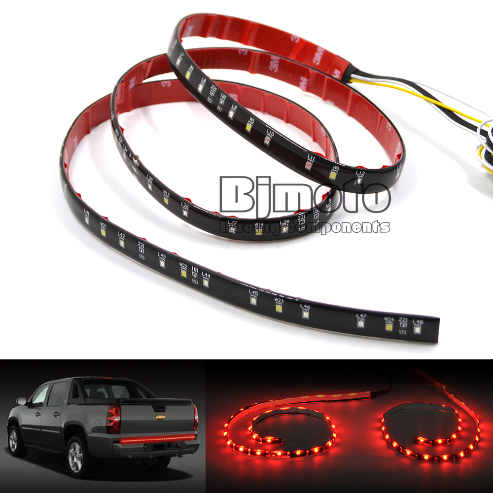 "LPL-036 49"" Flexible Car Truck LED Tailgate Light Bar Running/Brake/Reverse/Signal/Rear Strip Light Lamp Red and White Color 12V(China (Mainland))"