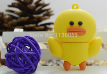 Usb Stick USB flash drive 100% real capacity cute  yellow duck USB Flash 2.0 Memory Drive 1GB-64GB S270