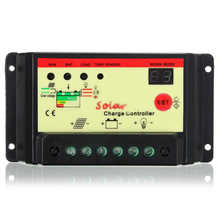 High Quality PWM Controller Solar Charger LCD Panel Regulator Battery 10A 12V/24V Mayitr Arrival(China)