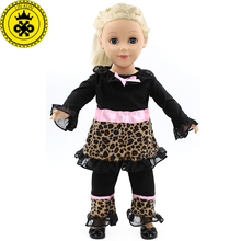 LIN KUN Trousers + Jacket American Girl Dolls Clothing of 18 inch Doll Dress Girl Best Gift 3 Style Options D-4(China)