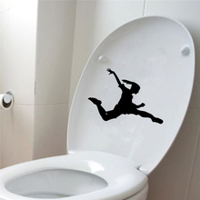 Soccer Girl Sport Wall Decal Toilet Sticker Vinyl Home Decor 6WS0006(China)
