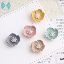 Homemade DIY accessories alloy pendant earrings hair oil disc flower flowers