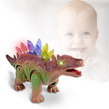 Electric Stegosaurus Toy for Children and Walking Robot Roaring Dinosaur Toy with Light for boy children and kids gift(China)