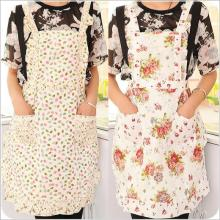 2016 New Cute&funny Kitchen Aprons for Woman Restaurant Cooking Cleaning Drawing Apron Polyester Flower Bib Avental Delantal(China)