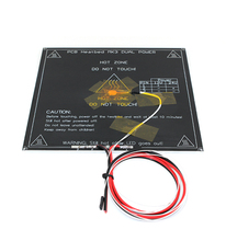 3D Printer Parts MK3 heatbed Dual Power Heated+LED+Resistor+Cable+100K ohm Thermistors PCB Heat bed 3d0354(China)