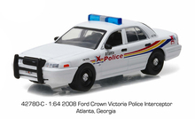 Green Light 1:64 Atlanta Police - 2008 Ford Crown boutique alloy car toys for children kids toys Model original box(China)