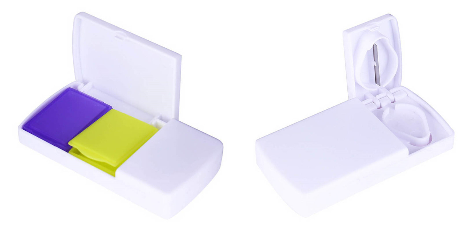 New 1Pc Pill Cases Medicine Splitter Slicer Divide Compartment Tablet Smart Storage Container Case Medicine Tablet Cutter