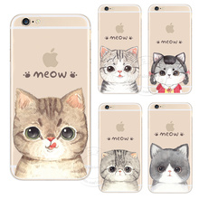 New Fashion Super Cute Cat Hard Plastic Case Cover For Apple iPhone 4 4S 5 5S SE 5C 6 6S 7 Plus 6SPlus