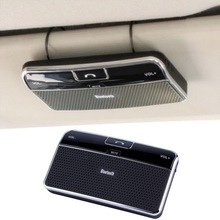 New Bluetooth Handsfree Car Kit Speakerphone Sun visor Clip 10m Distance For iPhone with Car Charger hot selling