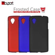 For LG Google Nexus5 Case Cover Frosted Anti-fingerprint Phone Bags Hard Cover For LG Nexus 5 D821 D820 Rubber Paint Ring Holder(China)