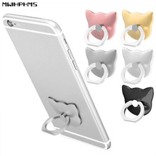 cell phone cat ring holder universal phone finger ring mobile phone ring stand metal grip cute kitty shape holder