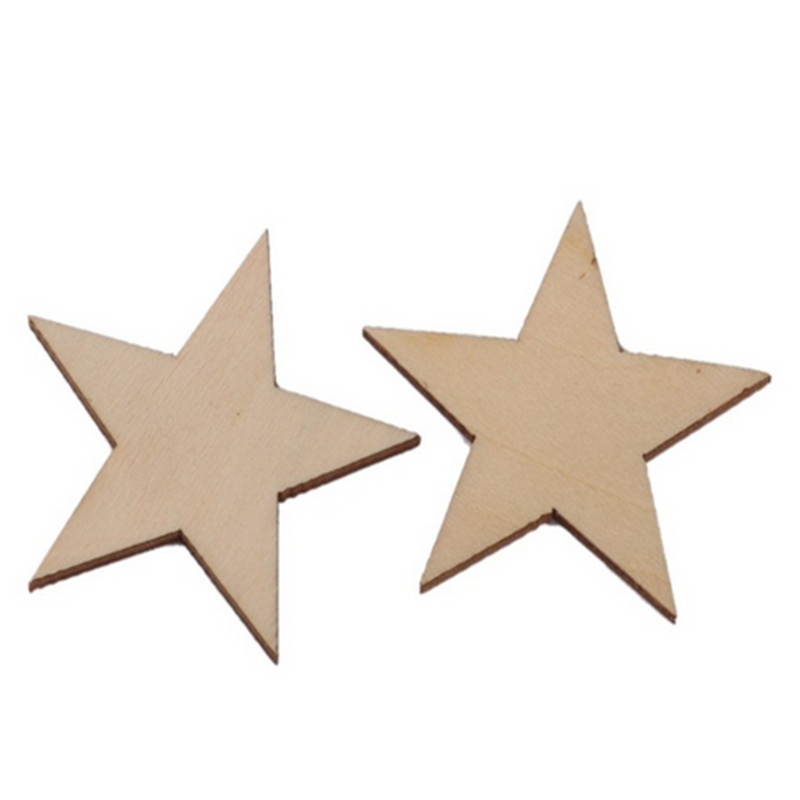 MDF Wooden Shapes Stars 50mm High 3mm Thick Custom Cut x 10 pieces 001