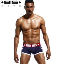 2017 pouplar brand  BSHETR mens boxers cotton sexy men underwear mens underpants male panties shorts U convex pouch for gay