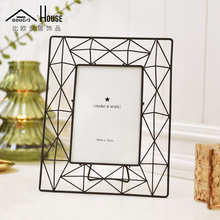 North European style and modern simplephoto frame table creative rectangular black wall decoration combination of American Iron