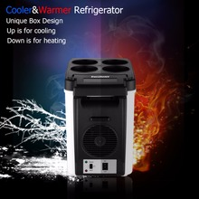 Excelvan 6L Mini Car Refrigerator 12V Portable Multi-Function Auto Car Travel Fridge ABS Home Cooler Warmer Freezer