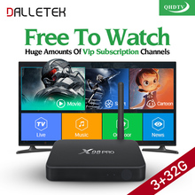 Dalletektv X98PRO TV Box Android 6.0 Iptv Subscription 1 Year QHDTV Code 3G 32G  IPTV Europe Arabic French Abonnement IPTV Box
