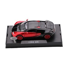 New Style Kids Toys 1:32 Car-styling Bugatti Veyron Alloy Diecast Car Model Collection Light Sound Red Toys For Children FL(China)