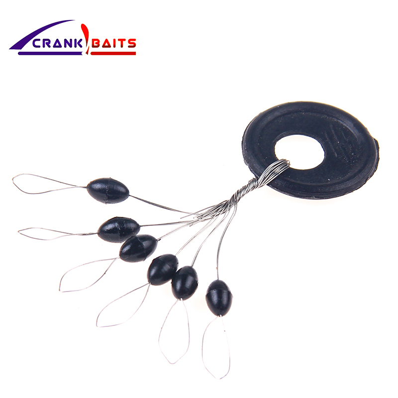 100pcs  6 in 1 Fishing Stoppers Bobber Rubber Silicone Space Bean Fishing Tackle