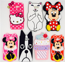 3D cute white cartoon cat Minnie Hello Kitty phone case silicone cover For Samsung Galaxy (2016 Edition A5) A510 A510F Cases