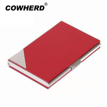 2017 High Quality Print logo metal&leather credit ID business name card holder case,promotion gifts,TNCH007(China)