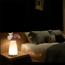 GQMML LED Bedside Lamp Vase Led Lights Decoration Night Light Dimmable Colorful Rechargeable Smart Table Baby Light Lamp N30*(China)