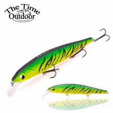 TheTime Fishing Bait Floating Jerkbait Minnow Fishing Lure Hard Lure Artificial Bait Plastic Wobble Lure TH110 pesca 100mm/17g(China)