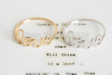 Jisensp 2017 New Fashion Hot Fashion Exquisite Alloy Love Letters Friendship Ring Women Simple Cute Cool Rings R018