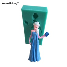 Famous Beautiful Carton Girl Figure Fondant Cake Molds Tools Soap Mold For Decorating Cooking Tools--C429(China)