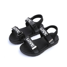 boys beach shoes 2017 summer new fashion leather casual sports shoes girls princess kids beach shoes children beach sandals(China)