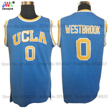 2017 Dwayne Mens Cheap Throwback Basketball Jerseys #0 Russell Westbrook Jersey UCLA Bruins Retro Stitched Embroidery Shirt(China)