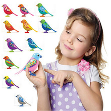 Digi Birds Pets Music Electric Bird Singing Bird Toys With Button Battery Christmas Gift For Kids S20 Random Color(China)
