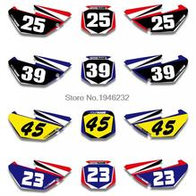 Custom Number Plate Backgrounds Graphics Sticker & Decals Yamaha YZ85 2002 2003 2004 05 06 07 08 09 2010 2011 2012 2013 2014 - Cnc Motocross Parts store
