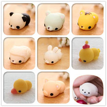 Kawaii Squishy Animal Panda/tiger/pig/sheep/duck/rabbit/chick/dog/seal/goose Cute Straps Squeeze Bread Cake Kids Toy Slow Rising(China)
