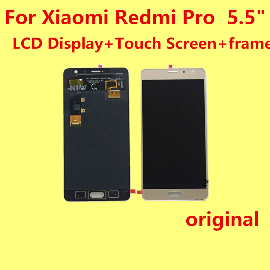 Original for Xiaomi Redmi Pro  5.5 LCD Display+Touch Screen+frame  Digitizer Glass Lens Assembly Replacement Give silicon case<br><br>Aliexpress