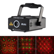 Red and Green Laser Projector Mini 4 in 1 Patterns Sunflower Whirlwind Lighting Stage Disco DJ Club KTV Xmas Family Party Light(China)