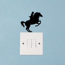 Sport Horse Jumps Fashion Wall Decal Decor Livingroom Light Switch Sticker 6SS0044