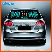 90*25CM MJ LED Sound Activated EL Sheet Car Music Sticker Equalizer Glow Flash Car Music Light Flashing