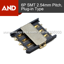 Free shipping 5pcs nano-SIM Card Connector,6 Contact,1500pcs/tape,plug in nano SIM Card(China)