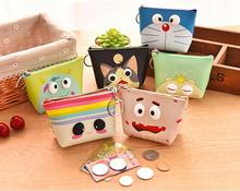 Mini Candy Color Cute Animal Change Silicone Coin Purse Case with Keychain, Adorable Cartoon Wallet Kids Girl Gift