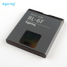 Agaring Replacement Battery BL-6F For Nokia BL-6F N78 N79 6788 6788I N95 8G BL6F Authentic Phone Batteries 1200mAh