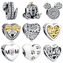 19 Styles Authentic 925 Sterling Silver Heart,Bow Knot,Tree Charms Bijoux Beads Fit Original Pandora Charm Bracelet Jewelry