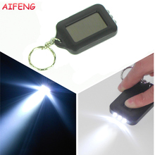 AIFENG Led Flashlight Mini 3Leds Solar Power Rechargeable Led Flashlight Keychain Light Torch Ring For Hiking Camping Flashlight