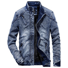 Denim Jacket men Autumn fashion Jeans Jacket Coat Male Slim Fit Casual Coats outwear jacket and coats M-3XL(China)