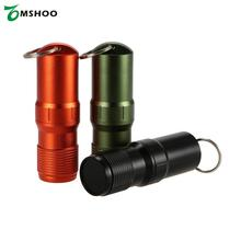Every Day Carry Waterproof Key Safe Matches Cap Survival Match Pill Case Can Carry Container Gear Aluminum Alloy(China)