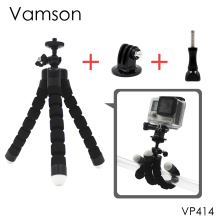 Vamson for GoPro Accessories Flexible Mini OctopusTripod With Screw Mount Adapter For GoPro Hero 5 4 3+2 1 Xiaomi yi SJCAM VP414