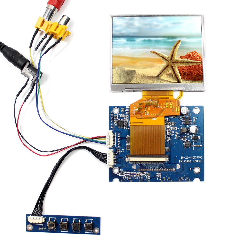 AV OSD LCD Driver Board VS-D1612-N3 +3.5 LQ035NC111 320x240 LCD Screen<br>