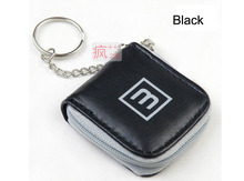 Cute Black 6 Slots Mini Memory Card Case Storage Carrying Pouch Micro SD Nano SIM Holder Small Wallet with key chain Portable(China)