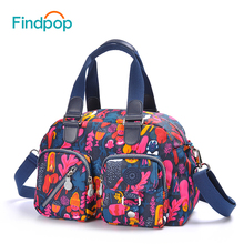 Findpop Floral Printing Handbags Ladies Casual Crossbody Bags For Women 2017 Fashion Large Capacity Waterproof Canvas Totes Bags(China)